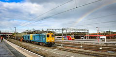 The pot of gold is...the Voyager! (robmcrorie) Tags: branch esso longport sidings 20096 20107 pinnox 6 station rainbow nikon no class virgin crewe voyager 20 dcr spoil d850 6z37