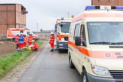 Übung des Rettungsdienstes (SirTiggi) Tags: übung rettungsdienst rettungswagen krankenwagen ambulance paramedic rettungssanitäter rettungsassistent notfallsanitäter notarzt blaulicht einsatz