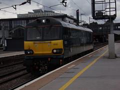 GB Railfreight Class 92 92010 (Alex S. Transport Photography) Tags: train railway rail outdoor vehicle northampton gbrf gbrailfreight class92 electric locomotive loco 0z92 92010