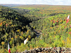 Jacquet River Gorge (clickclique) Tags: river gorge jacquetriver trees fall colour colours flags water hills deep red orange green ecosystem maple spruce poplar