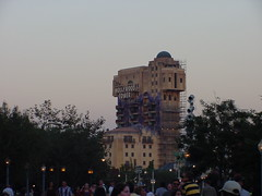 "The Hollywood Tower of Terror at Dusk • <a style=""font-size:0.8em;"" href=""http://www.flickr.com/photos/28558260@N04/48847381977/"" target=""_blank"">View on Flickr</a>"