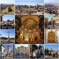 "My best of Granada - Spain (B℮n) Tags: fdsflickrtoys iglesiadelavirgendelasangustias spain spanje andalucia andalusia alhambra unesco world heritage granada hilltop palace fortress walls moorish cathedral albaicin mountains snow viewpoint pool swimming church ourladyofsorrows rooftop werelderfgoed nasriddynasty history fountains orchard gardens royalpalaces crownjewel tourist holiday travel barcelócarmengranada hotel islamic architecture arabflavoured street life monumentalchurches tapas bars 738m parroquiadelsalvador parishofelsalvador albaicín 50faves topf50 ""i am light world"" iamthelightoftheworld stainedglass paintings royal chapel jesuschrist virginmary passion cupola gothic mainchapel best collection mosaic finest ansichtkaart collage"