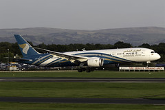 Oman Air 787-9 A4O-SH at Manchester Airport MAN/EGCC (dan89876) Tags: oman air boeing 787 dreamliner b789 7879 manchester international airport landing 23r arrival man egcc