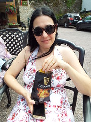 Nina - Coffee and Guinness Rich Chilli Crisps:) (sean and nina) Tags: nina blarney castle cork county irish ireland eire summer june 2019 dress white brunette long dark hair bare skin arms tan tannd face pink lips shoulders neck throat sunglasses hot sun sunshine beauty beautiful gorgeous stunning charm charming cute natural woman female girl lady girlfriend fiancee wife married happy smile smiling guinness chilli crisps cafe caffe sitting seated chair eu europe european serb holiday vacation tourist tourism