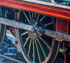 Steam and Steel (fotosforfun2) Tags: steam train loco locomotive rail railway transport bluebell sussex wheel steel red metal axle