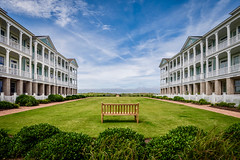 Once in a while (Sky Noir) Tags: ocean front living sky bench house lawn symmetry oceanview norfolk va virginia