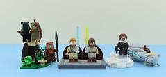 Movies minifigs #9 : Star Wars heroes👊 (Alex THELEGOFAN) Tags: lego legography minifigure minifigures minifig minifigurine minifigs minifigurines movie vignette han solo ewok endor qui gon jinn obi wan kenobi force star wars