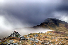 Stob a' Choire Mheadhoin (OutdoorMonkey) Tags: stobachoiremheadhoin easain easains peak summit munro mountain mountainside cairn mist fog cloud outside outdoor countryside nature natural scenic scenery wild wilderness remote lochaber scotland scottish highlands