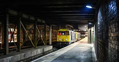 Glimpses of Crewe - running around on P12 (robmcrorie) Tags: 20096 20107 class 20 dcr crewe longport esso pinnox sidings spoil run round platform 12 station nikon d850