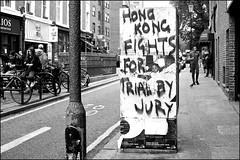 Protest phone box - DSCF5606a (normko) Tags: london west portobello road street market protest sign grafitti phone box telephone hong kong