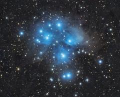 Pleiades (M45) (Dimitri Goderdzishvili) Tags: astrophotography astro astronomy photography deep space milky way pleiades m45 qsi ts80apo ieq30 pro night sky stars cluster nebula stardust dust reflection blue