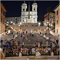 roma 30 (beauty of all things) Tags: italien rom roma nachts atnight spagna quadratisch spanischetreppe stairs treppen