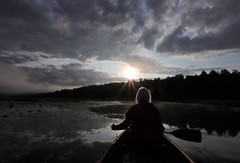 """"""" When sunrays touched the shoreline """" (gmayster01 on & off ...) Tags: gmayster01 gmayster sunrays sunrise bowwoman love paddling canie nature jj guymayerphotography haevn flickr amour canot quebec canada 514 mindfulness photography stilness glorious morningmist backlighting"""