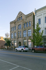 Redmond Building — Mount Sterling, Kentucky (Pythaglio) Tags: building structure historic romanesque richardsonian 11windows stone stonework rusticated threestory fivebay roundarched redmond gable pilasters corbelling corbelled 1890 kentucky mountsterling montgomerycounty segmentalarched
