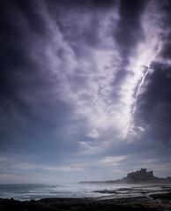 Sky opening (designfabric57) Tags: sky bamburgh castle beach waves sea panasonic lumix g7