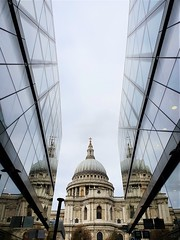 Triple St Pauls (Steph-Yates) Tags: city london st pauls cathedral reflection glass steel architecture building buildings classical modern