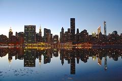 new york city (jpg.lulu) Tags: 50mm canon canonphotography niftyfifty city nyc philly philadelphia urban new york skyline cityskyline beautiful sunset lights reflection water newyorkcity