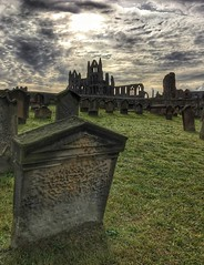 Whitby gothic (Andreadm66) Tags: abbey graveyard clouds landscape gothic graves whitby whitbyabbey stmary's iphone