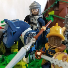 Heavy Contarius (Flounder's Bricks) Tags: lego afol age mythology gods titans myth story ancient mediterranean fighting fight unit soldier infantry sword shield hammer breastplate helm heavy attack defense defend horse horseman fast speed thundering spear helmet armor armored charge archers