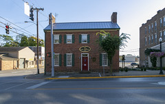 Old Montgomery County Jail — Mount Sterling, Kentucky (Pythaglio) Tags: building structure historic early 1815 jail fourbay ihouse twostory brick flemishbond flushchimneys rakeboards 66windows 99windows jackarched shutters sidewalk street mountsterling montgomerycounty kentucky