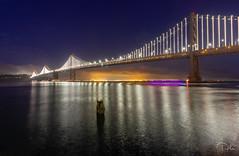 Bay Bridge (aliabdullah.176) Tags: oakland sanfransisco bay bridge water night longexposure wideangle t3i california