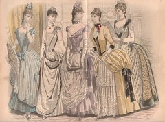 Parisenne Fashions. 1887 (SandraNestle) Tags: drawingsvintage sandranestle fashions poster paris 1887