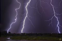 Triple Threat (Steven Maguire Photography) Tags: arizona cochisecounty sierravista southwest lightning monsoon thunderstorm nikond610 night
