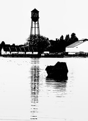 Watertower (beelzebub2011) Tags: usa washingtonstate blaine monochrome bw watertower