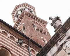 Tower_130734 (gpferd) Tags: animal art bird building construction italy lambertitower landmark pigeon statue torredeilamberti verona provinceofverona