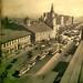 el hospital san juan de dios en la revista zig zag  1941, pero sin el Parque Ingles, se habia hecho el ensanche de la Alameda, al fondo la Pérgola