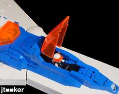 Deep Freeze Discoverer - Cockpit (jtooker2) Tags: shiptember ship lego deepfreezediscoverer iceplanet spaceship 2002 2019 moc space iceplanet2002 shiptember2019