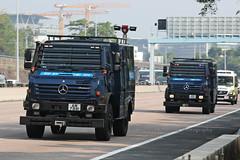 "Mercedes - Benz, Unimog U5000, ""Hong Kong Police"", Hong Kong (Daryl Chapman Photography) Tags: am7881 police hongkongpolice hongkong china sar ptu policetacticalunit canon 5d mkiv 100400lii mercedesbenz unimog unimogu5000 am7882"
