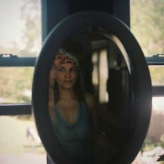 MM1-E004 (David Swift Photography) Tags: davidswiftphotography portraits portraitsofwomen mediumformat mediumformatportraits mirrorimage mirror reflection 120mm rolleiflex twinlensreflex kodakportra