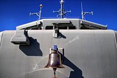 Ship's bell. (Ian Ramsay Photographics) Tags: hmasgladstone gladstonemaritimemuseum gladstone queensland australiafont shipsbell officiate baptised onboard crew members