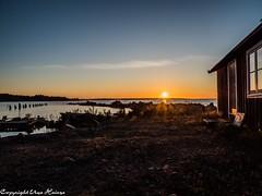 Sonnenuntergang auf Tjurkö 092019 05 (U. Heinze) Tags: schweden sverige sweden sonnenuntergang himmel sky herbst wasser ostsee sonne sun olympus omd em1markii 12100mm tjurkö