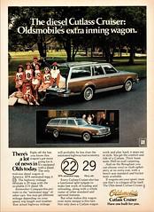1979 Oldsmobile Diesel Cutlass Cruiser (aldenjewell) Tags: 1979 oldsmobile cutlass cruiser diesel wagon ad