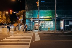 Untitled (Dominic Bugatto) Tags: coxwell danforthave eastyork toronto torontotopography streetphotography fujifilmx100f night 2019