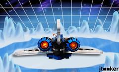 Deep Freeze Discoverer - Stern (jtooker2) Tags: shiptember ship lego deepfreezediscoverer iceplanet spaceship 2002 2019 moc space iceplanet2002 shiptember2019