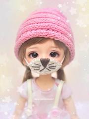 Protection ❤️ (♥..Nomyens..♥) Tags: bjd balljointdoll toy doll custom faceup paint painting painted repaint handmade nomyens nomyenscom latidoll latiyellow lea tinydoll