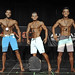 Mens Physique True Novice 2nd Ramsingh 1st Batinic 3rd Yang