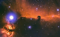 Horsehead Nebula in HOO Bi colour (Ethan.WYH) Tags: singapore b33 horsehead nebula deepsky space stars nasa apod hoo bicolour hubble ha o3 narrowband flame