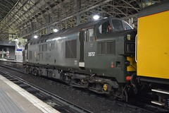 "Colas Rail Owned British Railways Green Liveried Class 37/0, 37057 / D6757 (37190 ""Dalzell"") Tags: br britishrailways green colasrail nr networkrail testtrain ee englishelectric type3 growler tractor class37 class370 d6757 37057 piccadilly manchester"