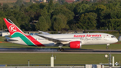Boeing B787-8 Dreamliner, Kenya Airways, 5Y-KZB (maxguenat) Tags: avion spotter spotting cointrin atterrissage