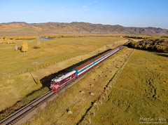 M62UMM-016 UBTZ, Unegt - Tunkh (Mongolia) (Martin Válek) Tags: mongolsko mongolei transmongolianrailway ulaanbaatarrailway rail railway railroad train locomotive zug eisenbahn vlak železnice m62 kharaa