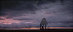 Watching the morning light unfold.[Explored 07/10/19] (ziggystardust111) Tags: folkestonewaterfront morningsky morninglight kent life beach sky moody