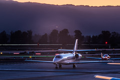 a cessna 680 awaits departure (pbo31) Tags: eastbay alamedacounty evening dark nikon d810 color october boury pbo31 municipal airport lvk livermore aviation over plane sunset local jet private toyota tundra corporate business lightstream motion