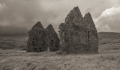 the walls that remain (johnny_9956) Tags: blackwhite bw sepia scotland highlands canon outdoor building historic history derelict ruin house old ancient