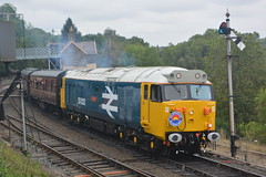 50033 Highley 05/10/19 (yamdood91) Tags: 50 50033 2019 highley svr class severn valley railway diesel gal large logo glorious