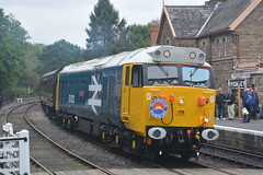 50033 Highley 05/10/19 (yamdood91) Tags: 50 50033 2019 class highley severn valley railway svr large logo glorious diesel gala