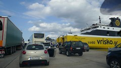 Queueing to Board the Ferry (RobW_) Tags: queueing ferry maredilevante kyllini port ileia peloponnese greece monday 23sep2019 september 2019